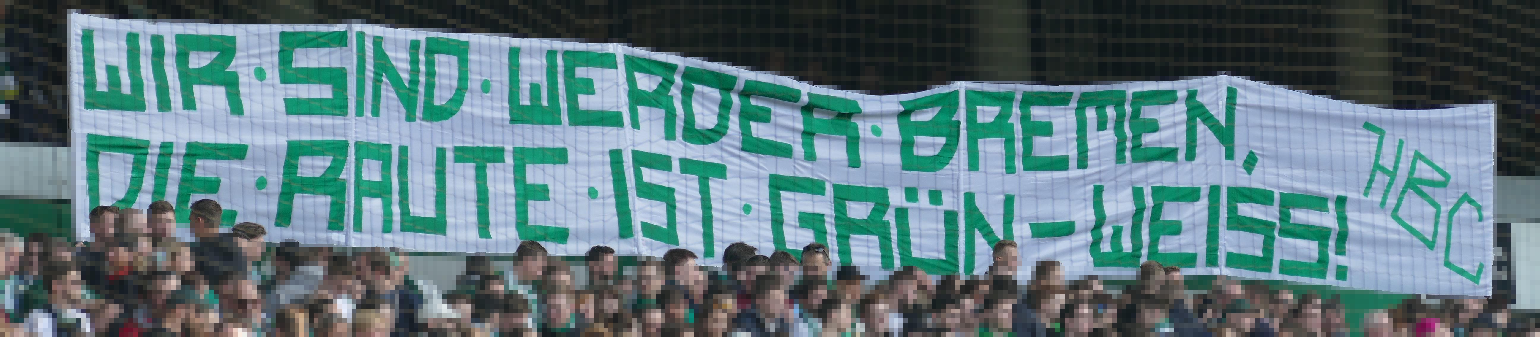 """27. Spieltag SVW vs. M05:  """"Wir sind Werder Bremen, die Raute ist Grün-Weiß!"""